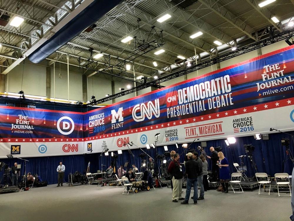 Democratic debate spin room, March 6, 2016/Susan J. Demas