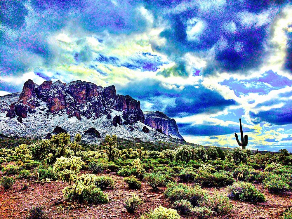 Superstition Mountains, Arizona, January 2015