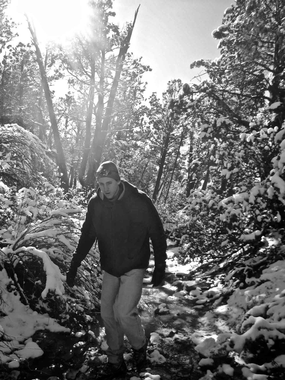 Chuck Demas at Soldiers' Pass, Sedona, Arizona, January 2011