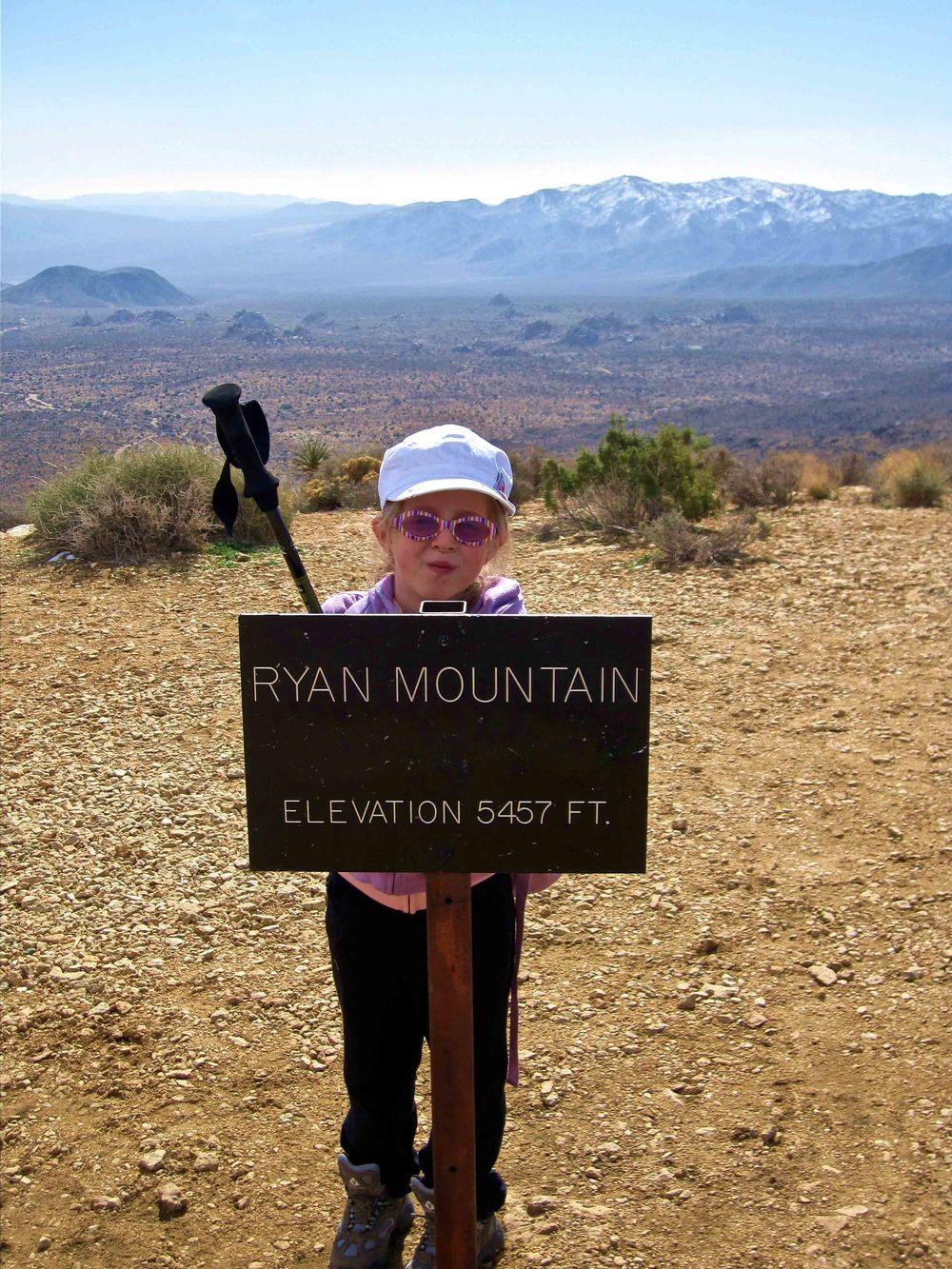 Angela's first mountain, Ryan Mountain, Joshua Tree National Park, California, February 2009