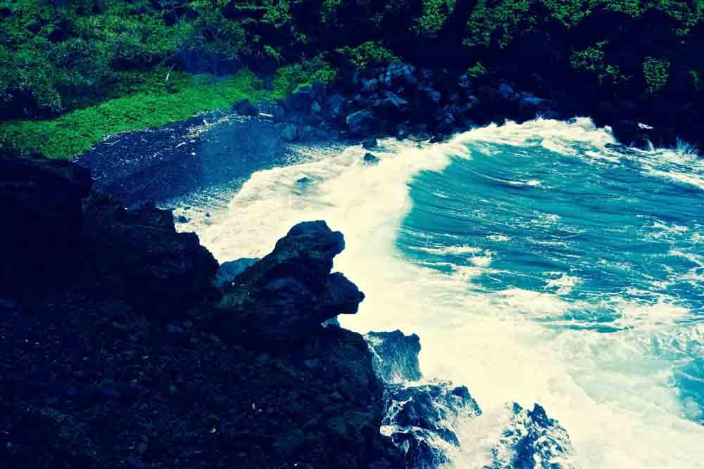 Wai'anapanapa Black Sand Beach, Maui, July 2012