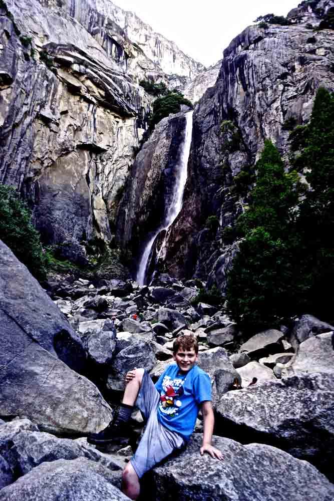 Bridal Veil Falls, Yosemite, June 2014