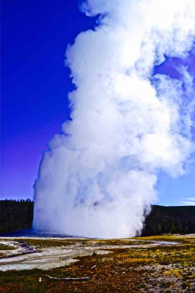 Old Faithful, Yellowstone National Park, Wyoming, August 2014