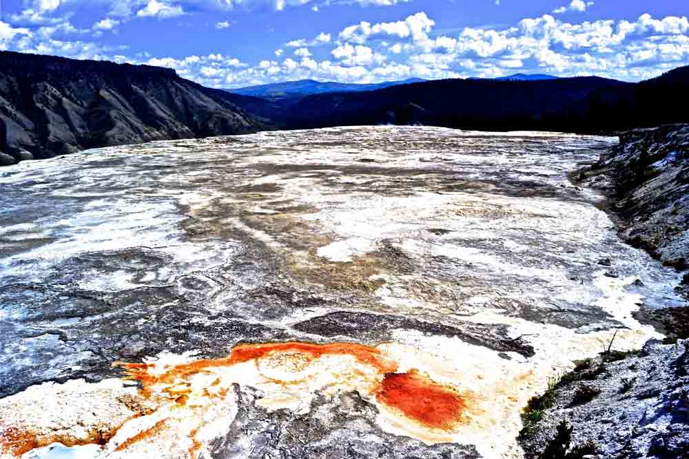 Mammoth Hot Springs, Yellowstone National Park, Wyoming, August 2014