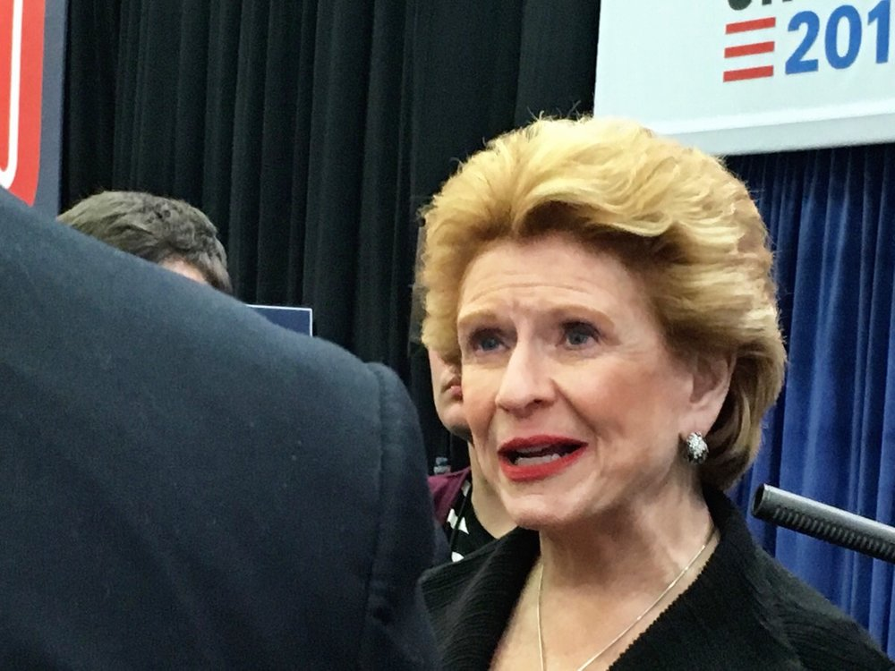 Debbie Stabenow at the Michigan Democratic presidential debate in Flint, March 2016/ Susan J. Demas.