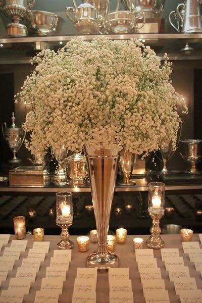 Guesses - $15 - $200    Average - $60    Actual cost - $175    This is a popular picture I get in appointments. This is more baby's breath than you would think. I've often done a smaller version for individual tables