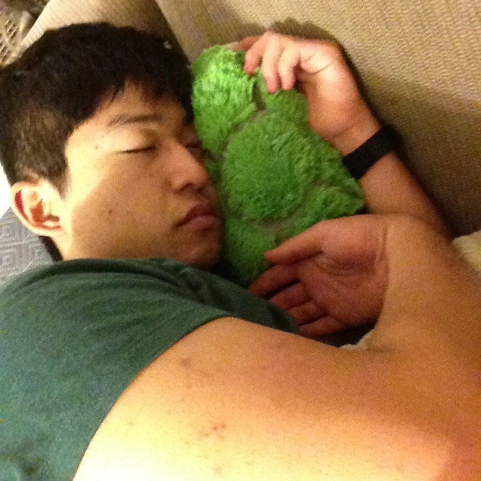 a good friend with his new turtle pillow pet, mitchell. i bought mitchell at the dollar store may weeks ago
