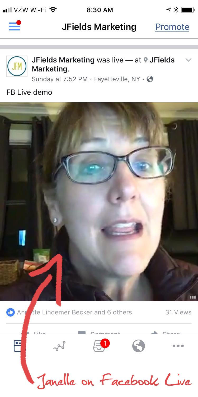 Janelle on FB Live