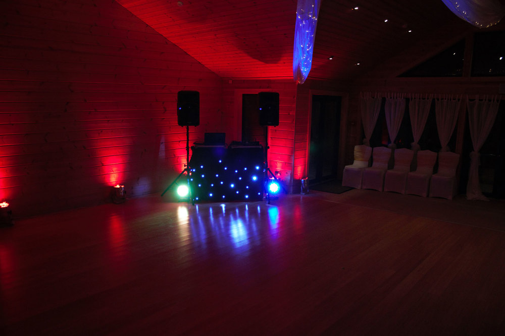 Up-lighting creates the ideal atmosphere for your evening celebrations