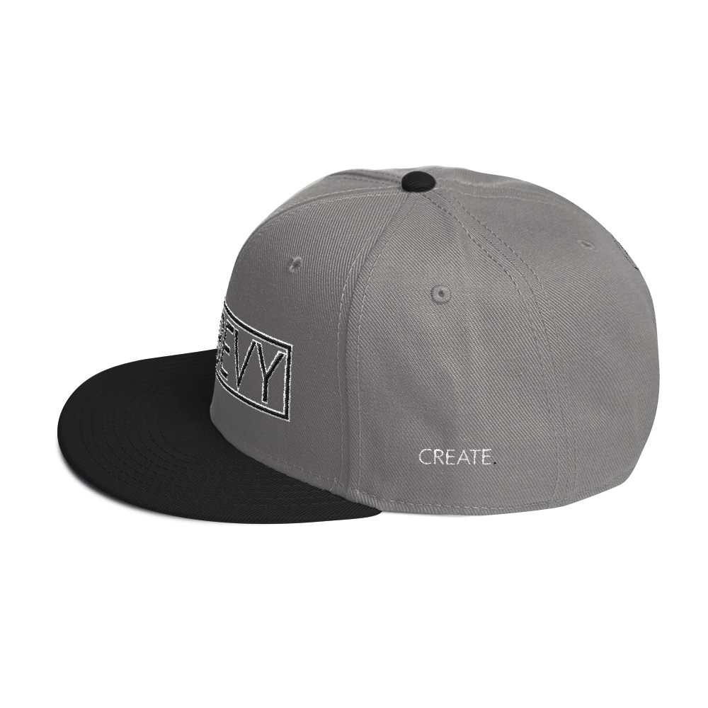 High-Profile-Hat-Black-Outlined_A.Bevy-Full-PNG-Black_Black-Bird_CREATE_mockup_Left-Side_Black--Gray--Gray.png