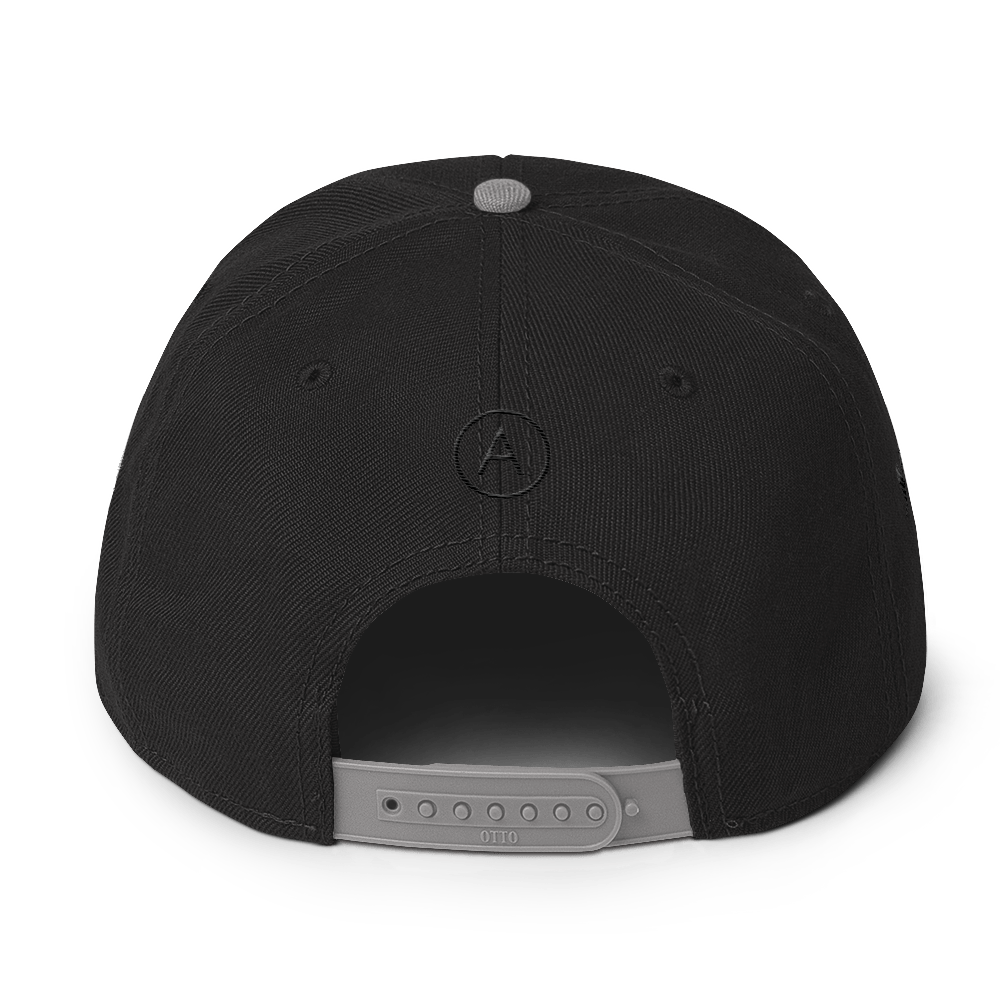 High-Profile-Hat-Black-Outlined_A.Bevy-Full-PNG-Black_Black-Bird_CREATE_mockup_Back_Gray--Black--Black.png