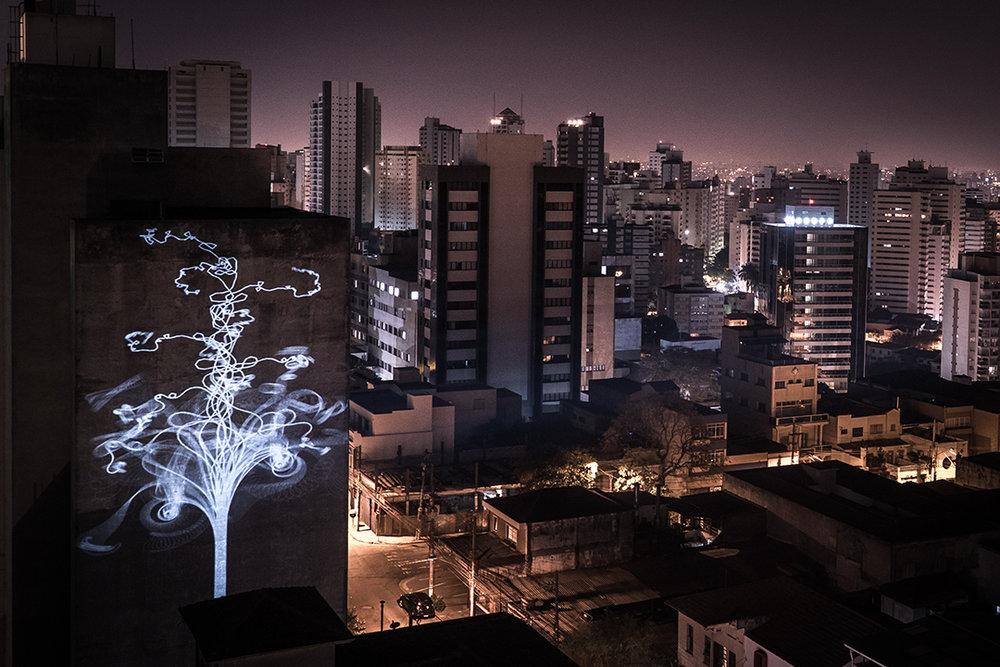 Guerilla projection, São Paulo