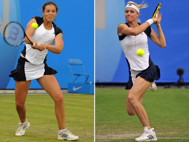 L. Robson (left) and M. Kirilenko. Photo from Independent.co.uk.