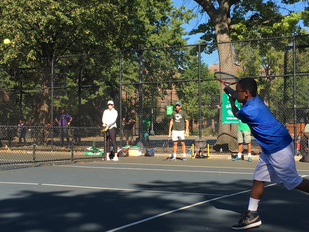 Julius shows off a mean backhand in the semi-final round.