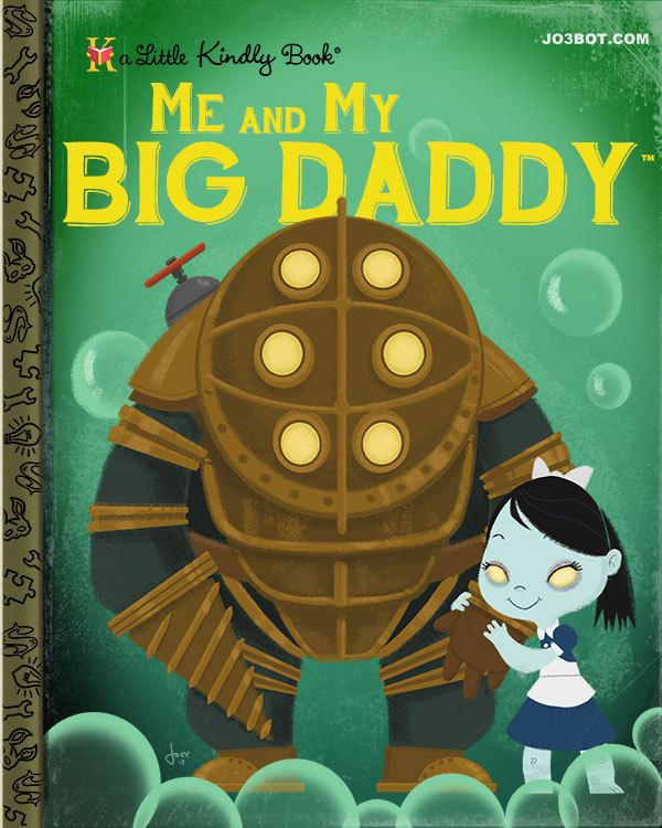 Me And My Big Daddy 8x10 Print Jo3bot