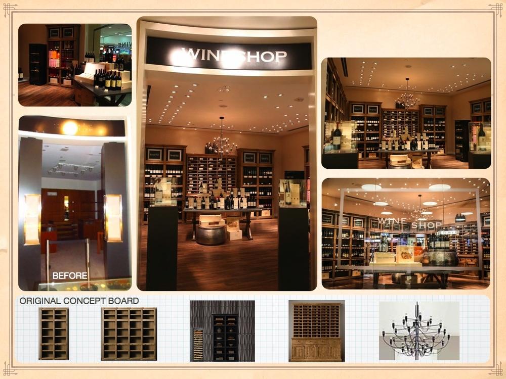 Wine Shop Concept Board