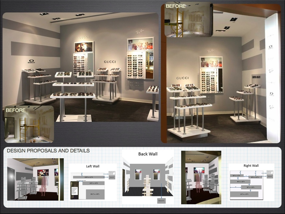 Sunglass Shop Concept Board