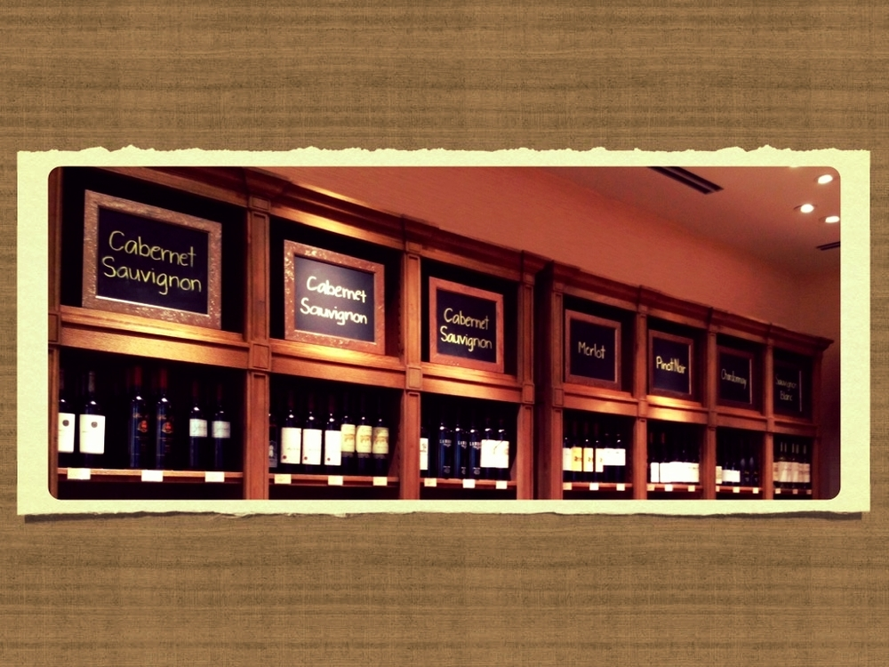 Wine Varietals Signage