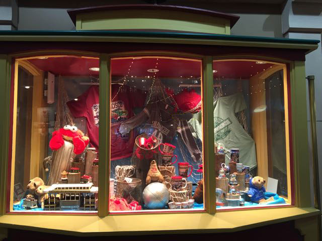 Pier 39's cable car store - nautical window display