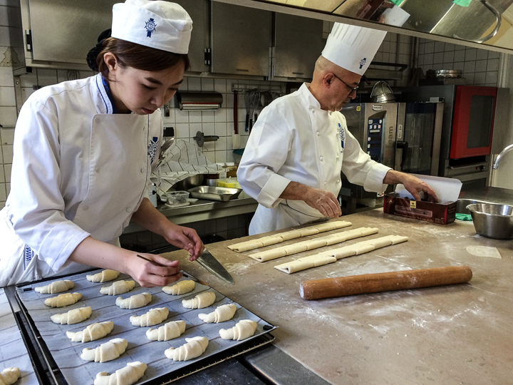 Chefs making pastries