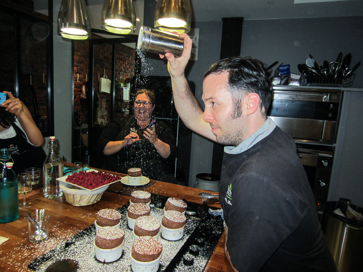 Man teaching a cooking class