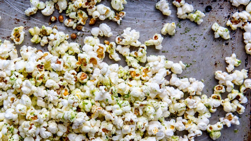 Herbs de Provence Popped Corn, one of my favorite snacks