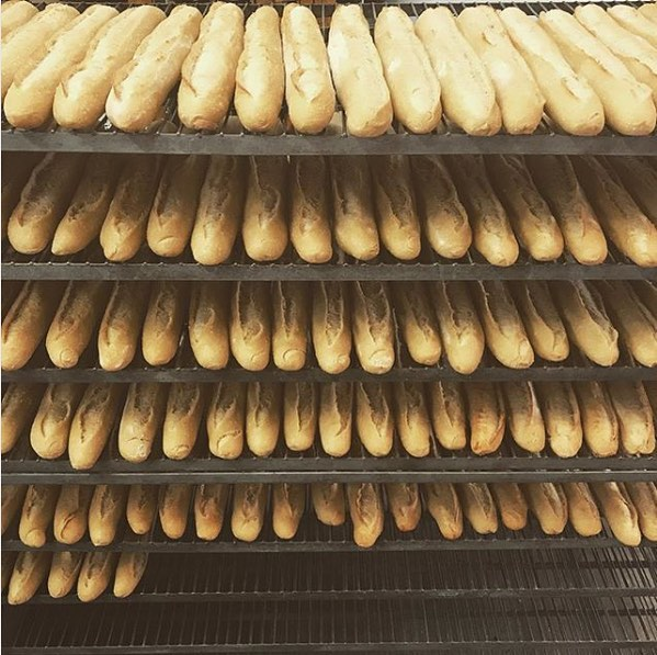 Look at these beauties! We love using local products, like these baguettes made for us by @otrbreadco for our banh mi sandwiches!