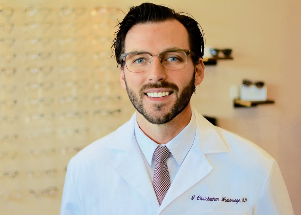 Dr. Wooldridge has been in the ophthalmic field for over ten years. Before becoming an optometrist, Dr. Wooldridge worked in an optical lab making prescription eyeglass lenses as a certified optician. A Missouri native, he attended the University of Missouri -- St. Louis, where he was doctoral teacher's assistant for ophthalmic optics.    Upon graduation he worked in surgical, inpatient nursing facilities, and hospital practices, performing medical oriented eye examinations and treatments for geriatric and pediatric patients. Today Dr. Wooldridge enjoys fitting specialty contact lenses and treating advanced vision disorders including diplopia, glaucoma, keratoconus, and caring for patients with special needs.