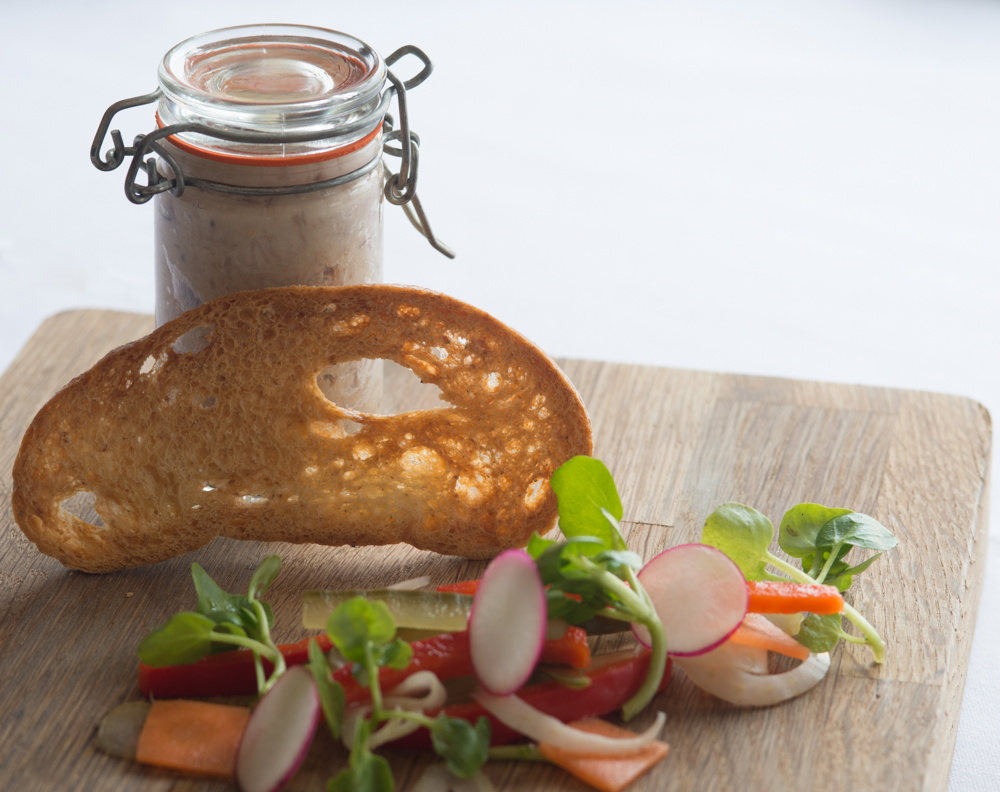 Terras Farm Duck Rillette, Pickled Vegetables