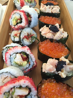 Some examples of the sushi available for picnics