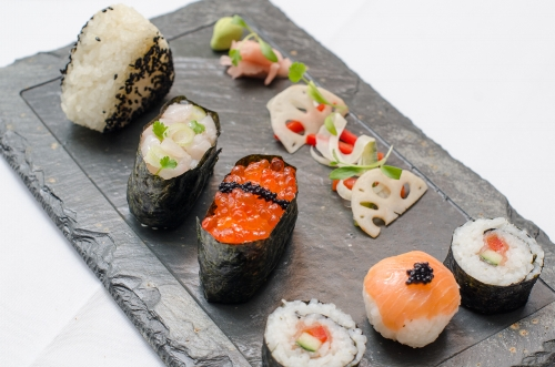 A little sushi selection, but many other international delights are available...