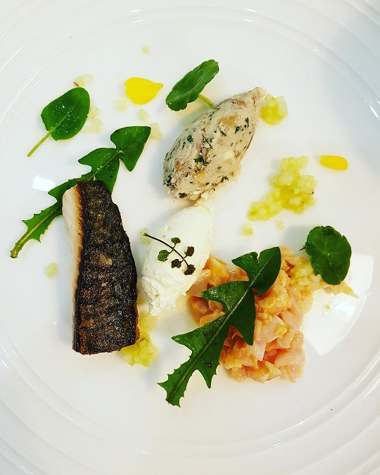 Autumnal Line Caught St Ives Bay Mackerel Trio with foraged herbs