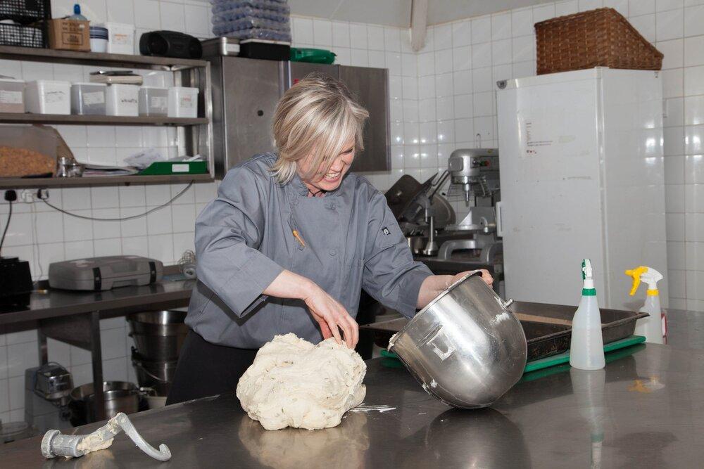 Fiona making bread