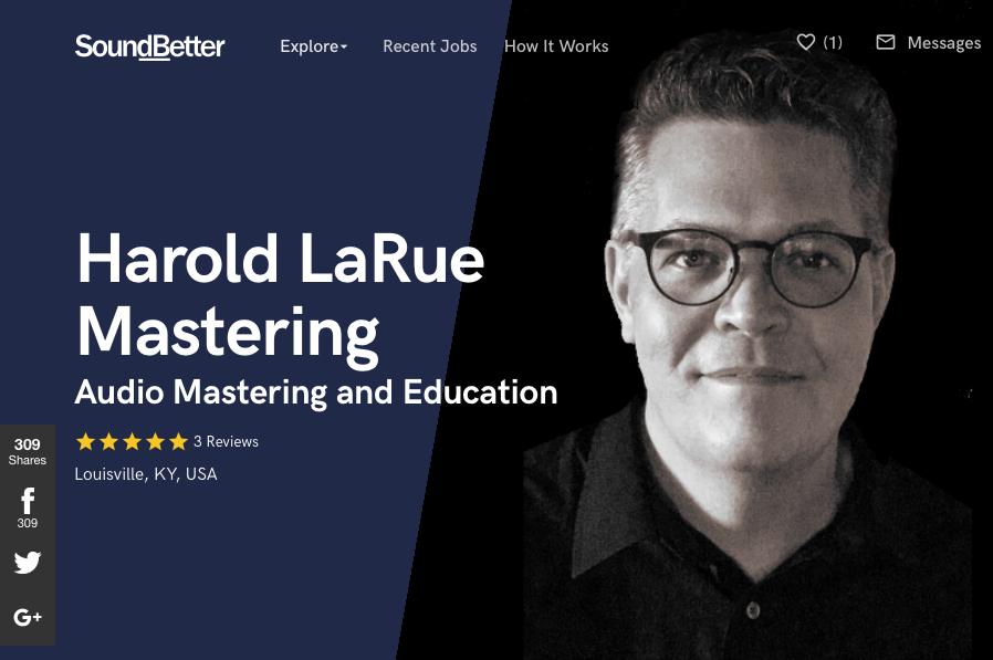SoundBetter Profile - Harold LaRue Mastering.png