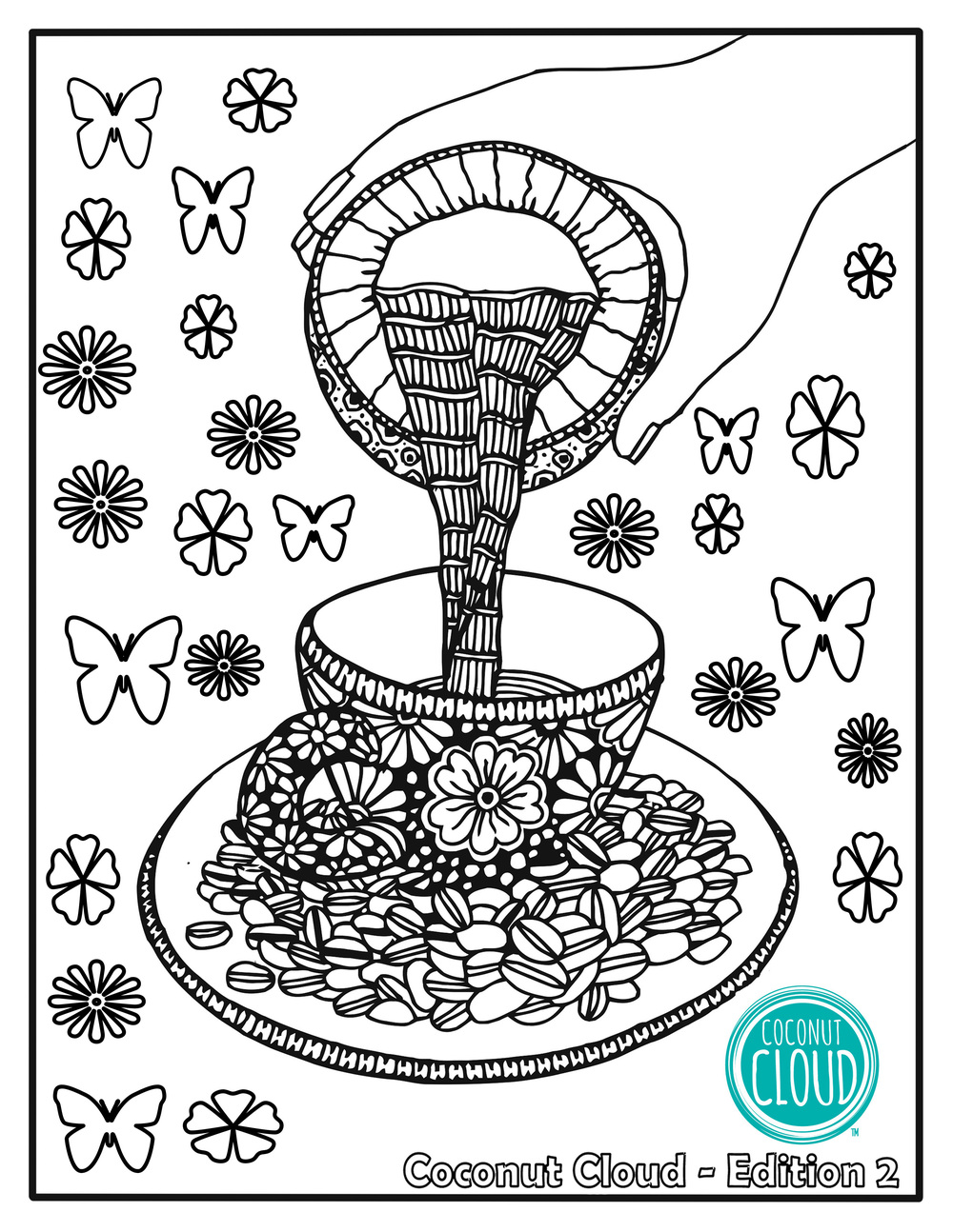 Adult Coloring Book pages Edition 2 Coconut Cloud