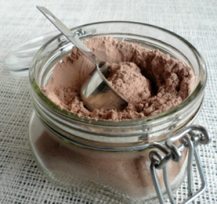 dairy free hot chocolate mix in jar