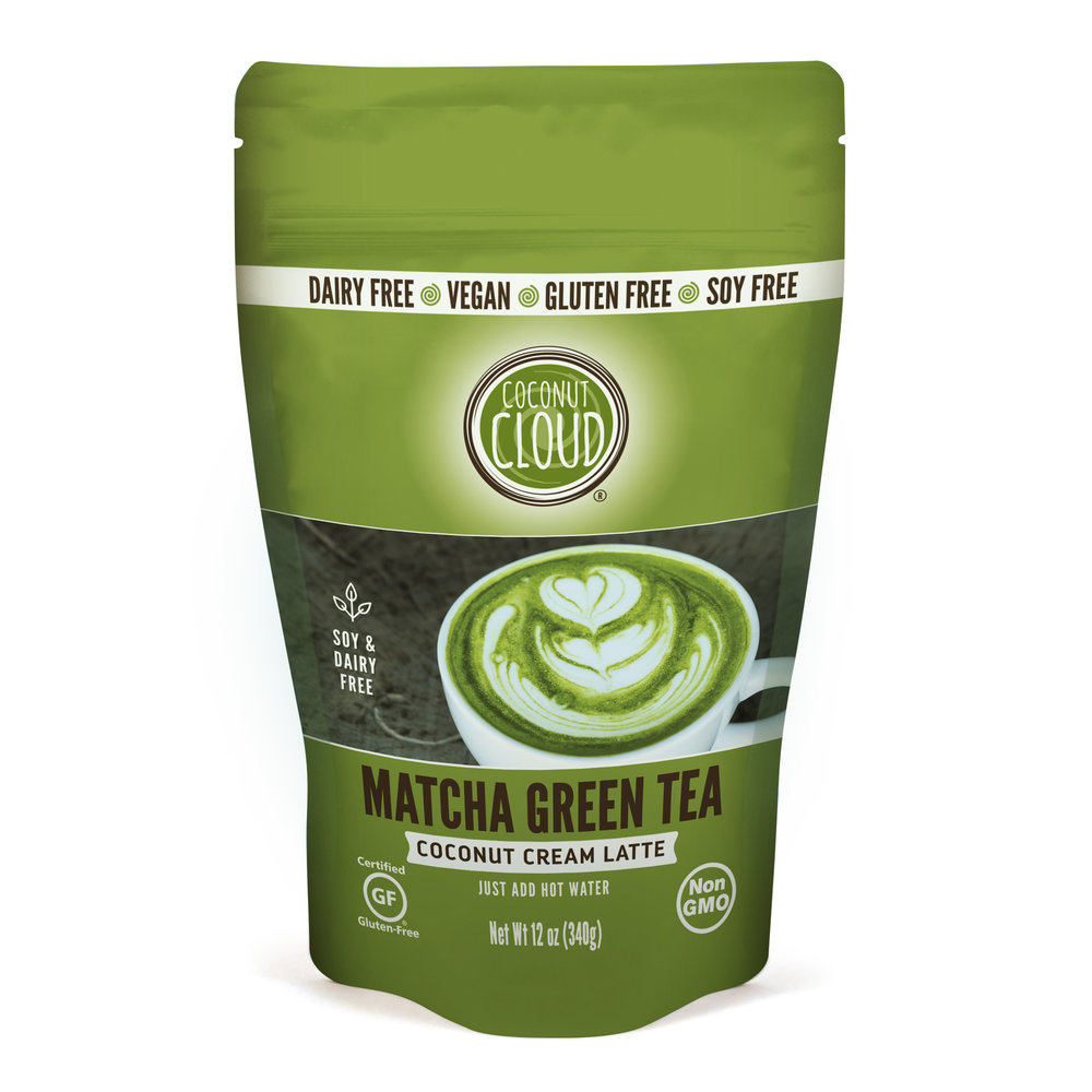 Matcha Green Tea coconut cream instant latte