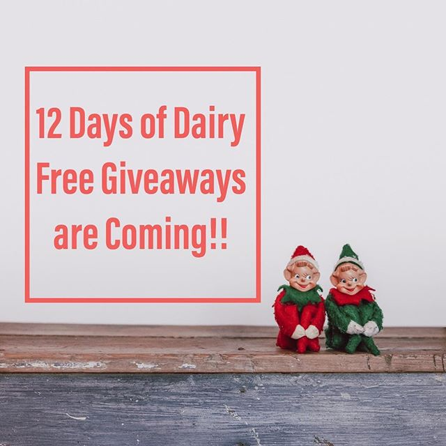 We are so excited for our upcoming 12 Days of Dairy Free Giveaways! We will be kicking off with @earthbalance on 12/13. Tune in for a chance to win delicious dairy free goodies!