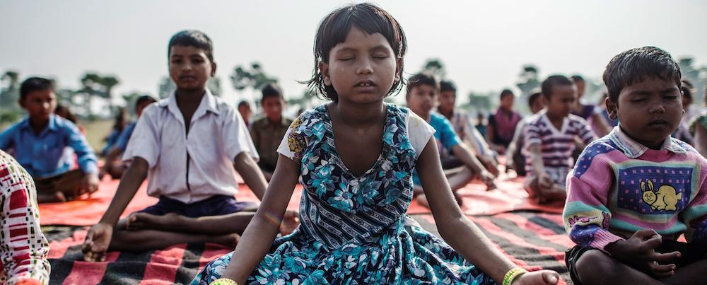 Yoga des enfants - Inde