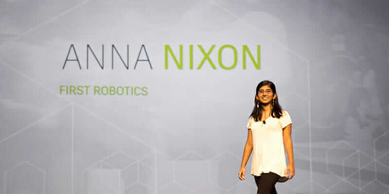 Anna speaking at     Autodesk University Conference 2016