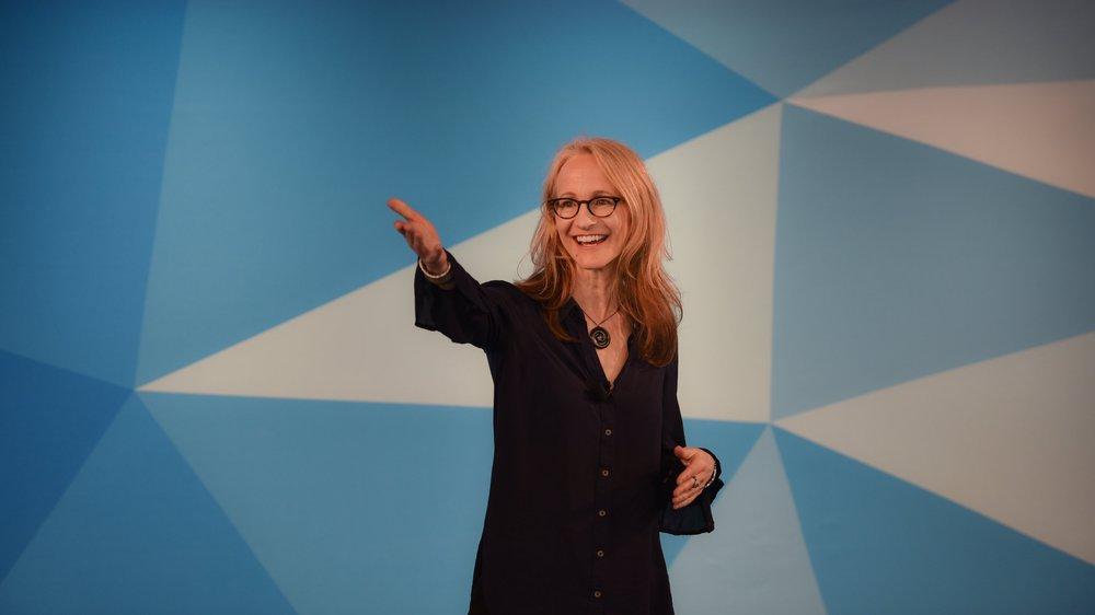 Strategic Storytelling Presentation at LinkedIn. Photograph by Lisa Kessler.