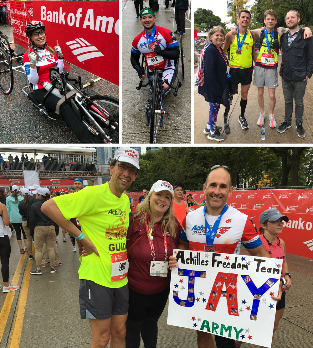 Above: Achilles Freedom Team at the 2018 Chicago Marathon