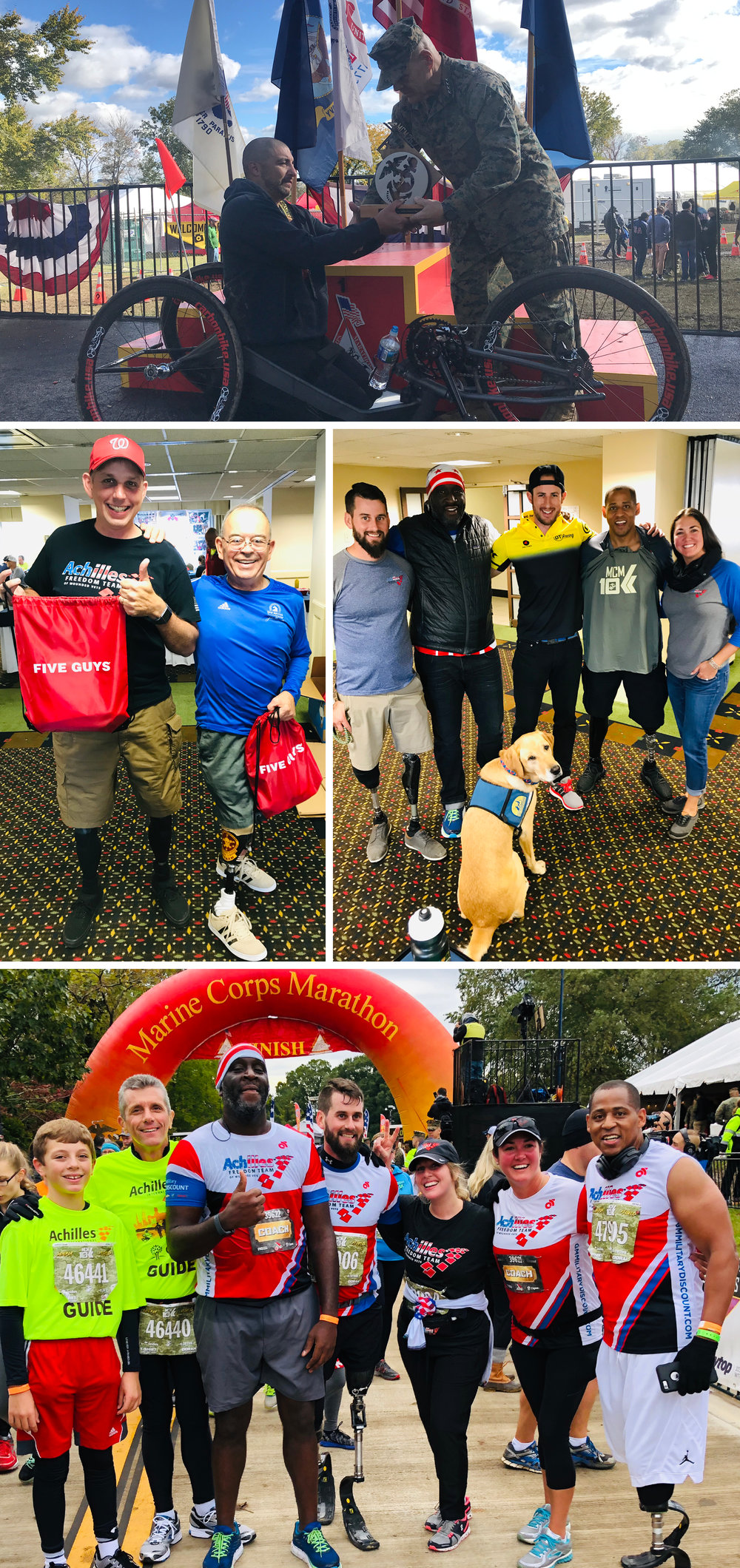 Above: Memorable moments from the Marine Corps Marathon!