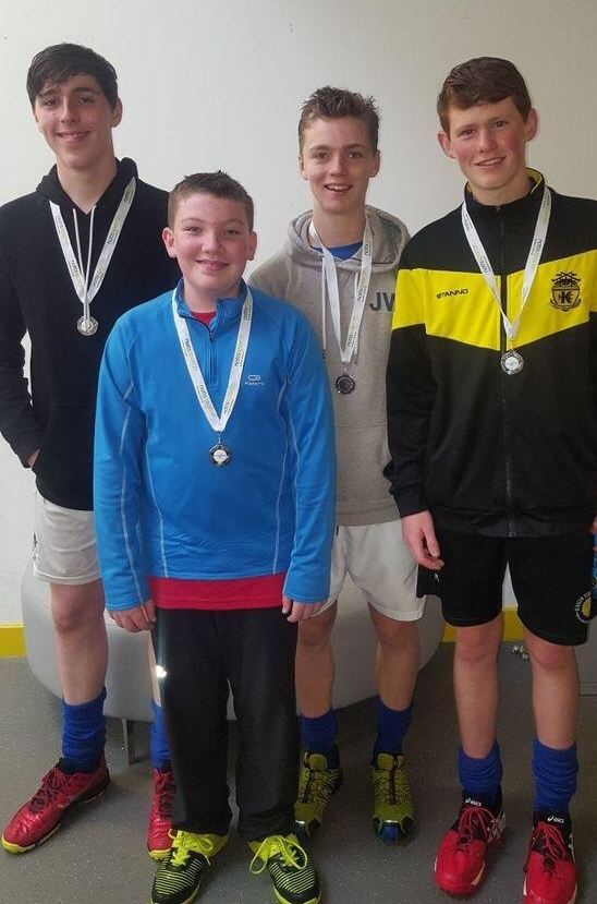 Kelburne Players Selected for the West U16 Boys' Inter-districts, Sept. 2017 -   From Left above: Cameron McIntyre, Fionn Wilson, Niall Taylor & Logan McClure