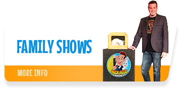 Auckland magician Mick Peck's magic shows for children's events, holiday programmes, schools, clubs and functions.  Mick's hilarious family magic shows feature eye-popping visual magic and appeal to both kids and adults!
