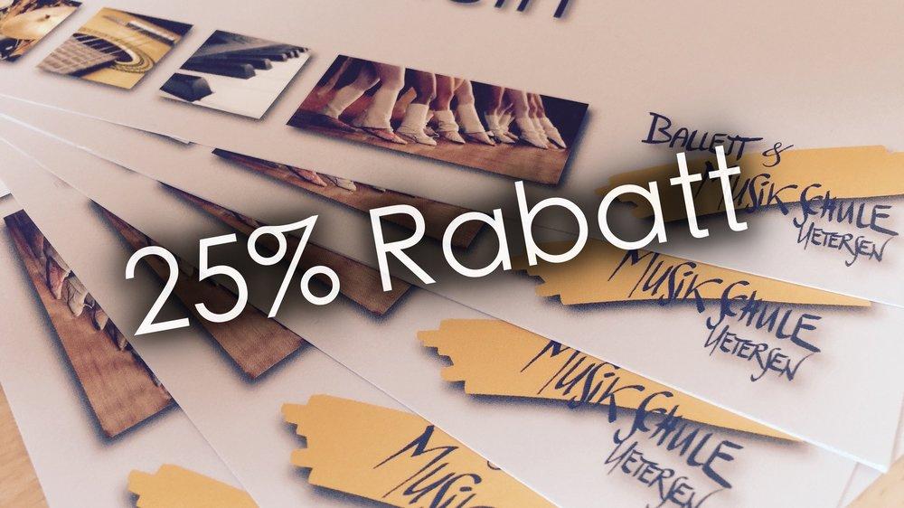 Jetzt Anmelden - Komm bei unsrer Jubiläums-Feier vorbei und sicher dir direkt vor Ort 25% Rabatt auf deinen Unterricht! 😱
