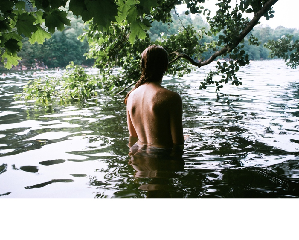Flo in the lake, Berlin, 2015