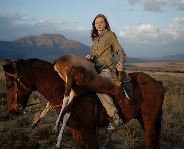DC huntress with buck, south africa, from the series 'hunters'-David Chancellor.jpg