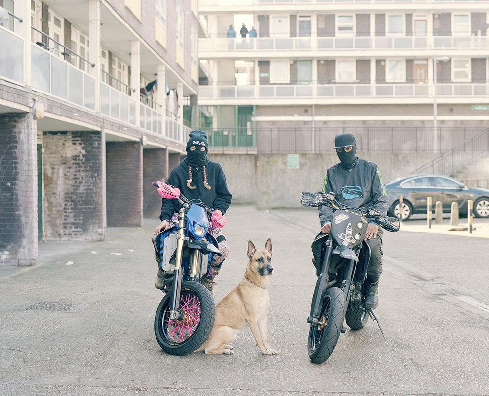 Naomi, Zeus & Izzy, Urban Dirt Bikers © Spencer Murphy