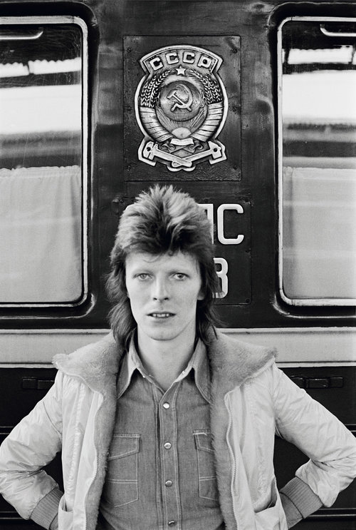 David Bowie: In Front of the 'Trans Siberian ExpressPhotography Geoff MacCormack